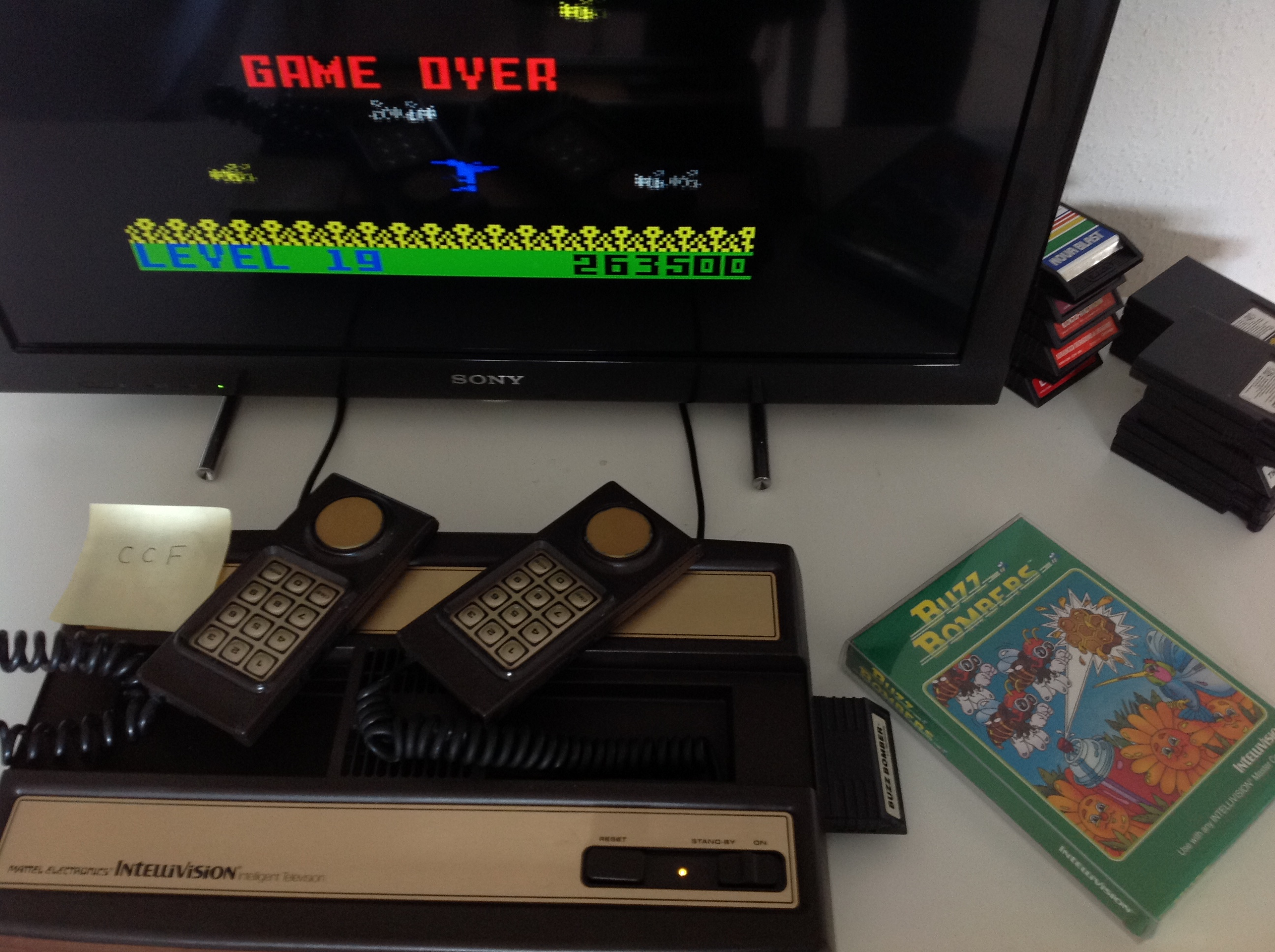 CoCoForest: Buzz Bombers (Intellivision) 263,500 points on 2018-09-13 05:51:50
