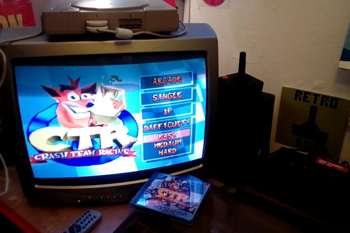 RetroRob: CTR Crash Team Racing: Arcade: Blizzard Bluff: Single: Easy: 5 Laps [Race Time] (Playstation 1) 0:03:44.13 points on 2020-03-14 06:48:36