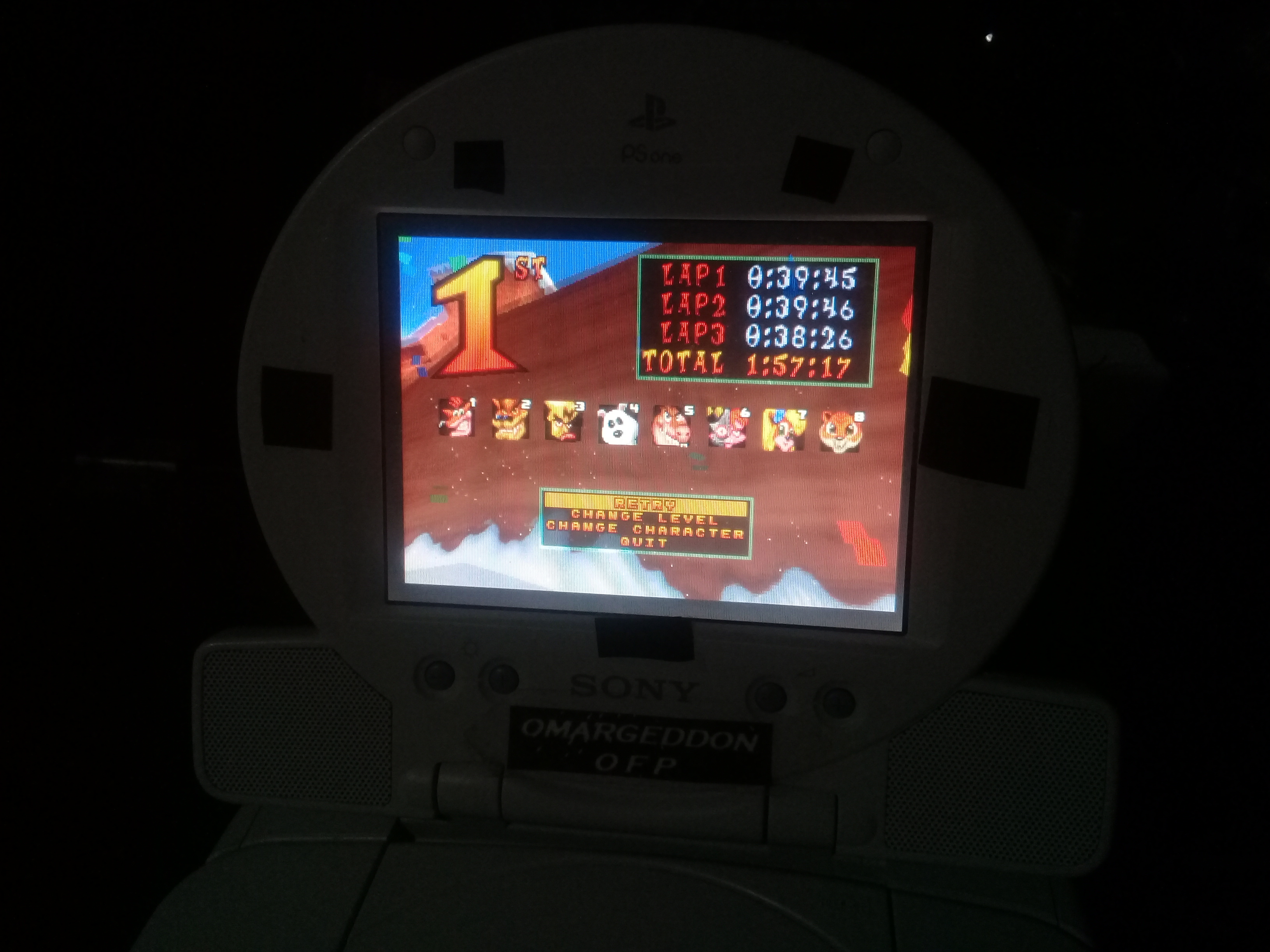omargeddon: CTR Crash Team Racing: Arcade: Blizzard Bluff: Single: Easy [Best Lap] (Playstation 1) 0:00:39.45 points on 2019-05-13 17:02:42
