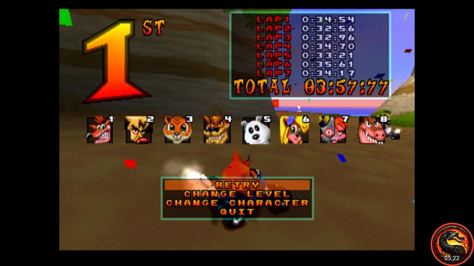 omargeddon: CTR Crash Team Racing: Arcade: Crash Cove: Single: Easy [Best Lap] (Playstation 1 Emulated) 0:00:32.56 points on 2021-03-31 02:37:09