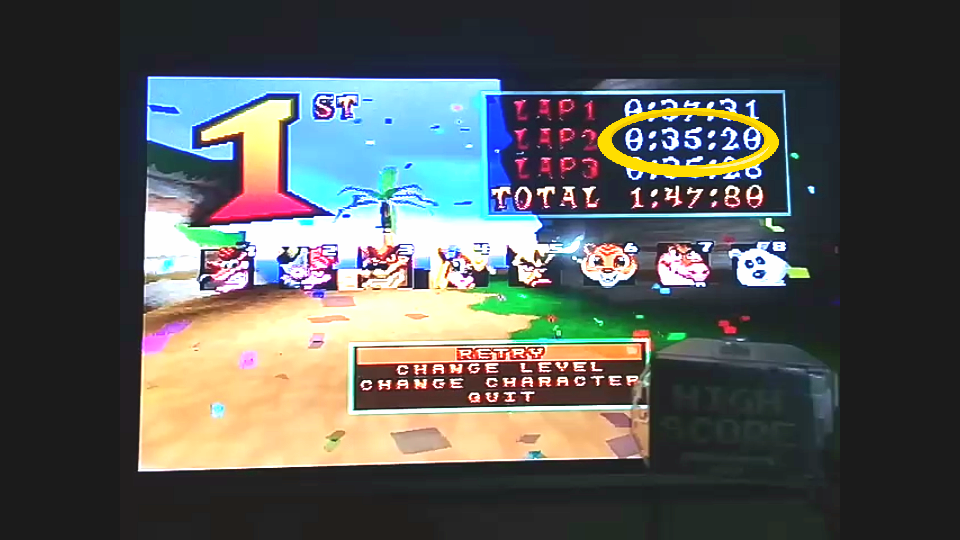 omargeddon: CTR Crash Team Racing: Arcade: Crash Cove: Single: Easy [Best Lap] (Playstation 1) 0:00:35.2 points on 2018-11-23 10:28:26