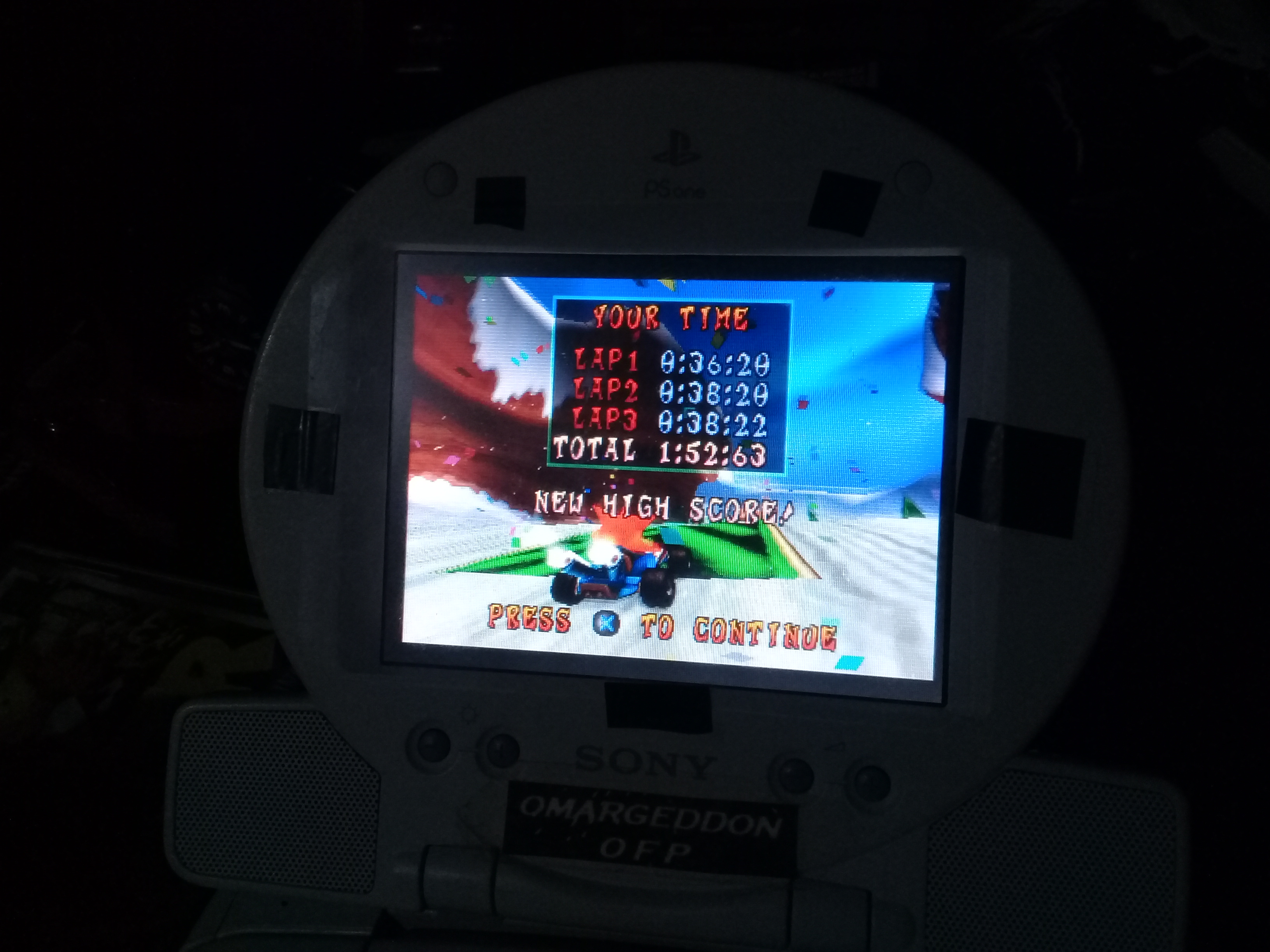 omargeddon: CTR Crash Team Racing: Time Trial: Blizzard Bluff [Best Lap] (Playstation 1) 0:00:36.2 points on 2019-02-22 09:08:08