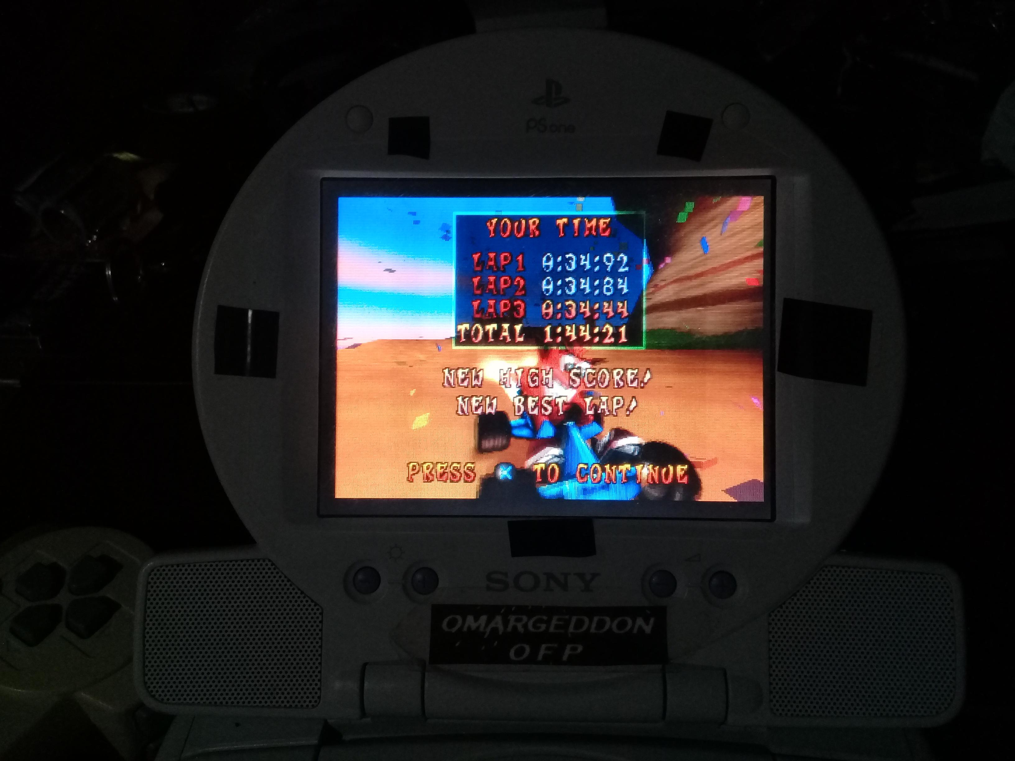 omargeddon: CTR Crash Team Racing: Time Trial: Crash Cove [Best Lap] (Playstation 1) 0:00:34.44 points on 2019-01-06 13:10:37
