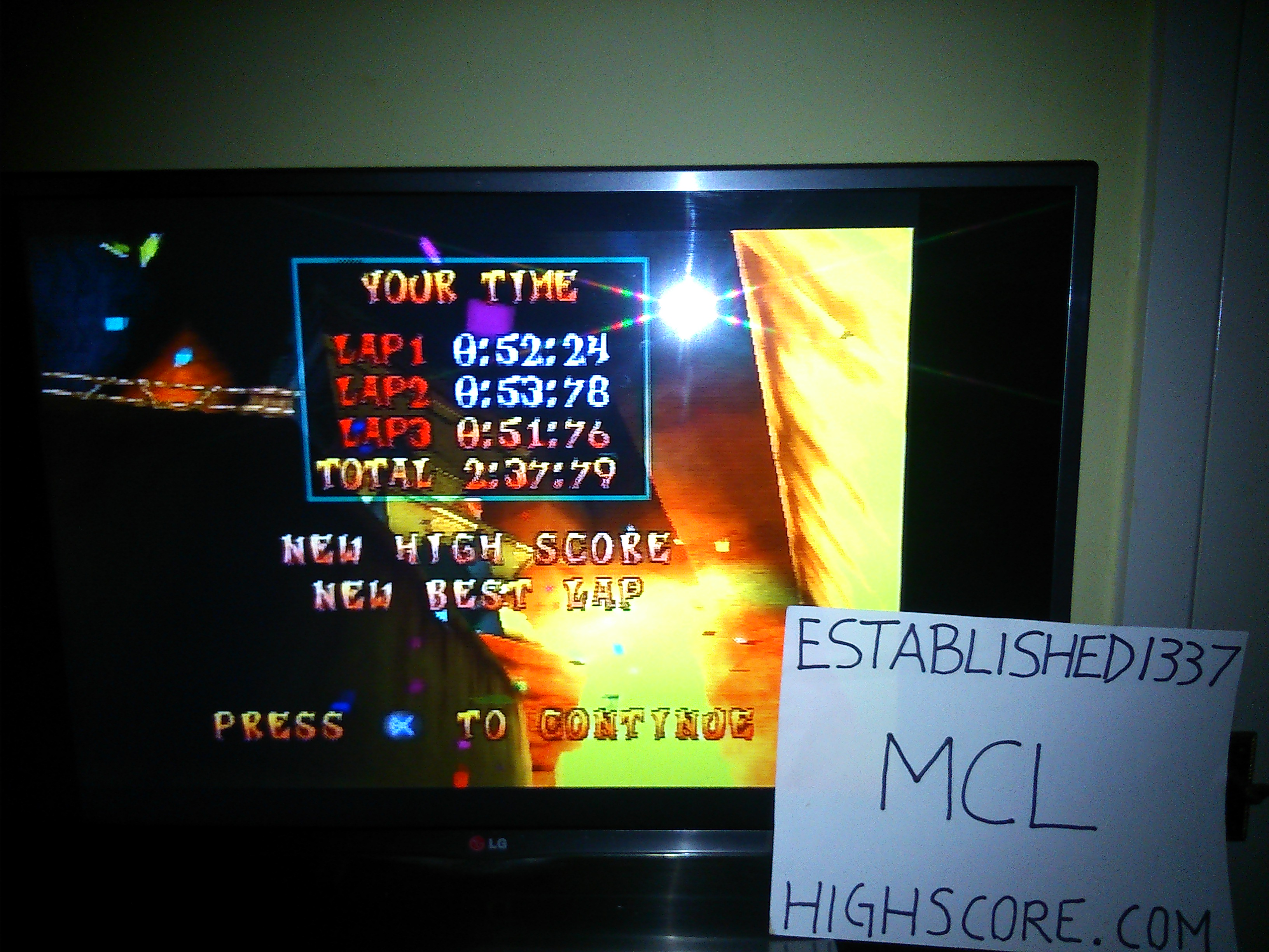 CTR Crash Team Racing: Time Trial: Mystery Caves [Best Lap] time of 0:00:51.76