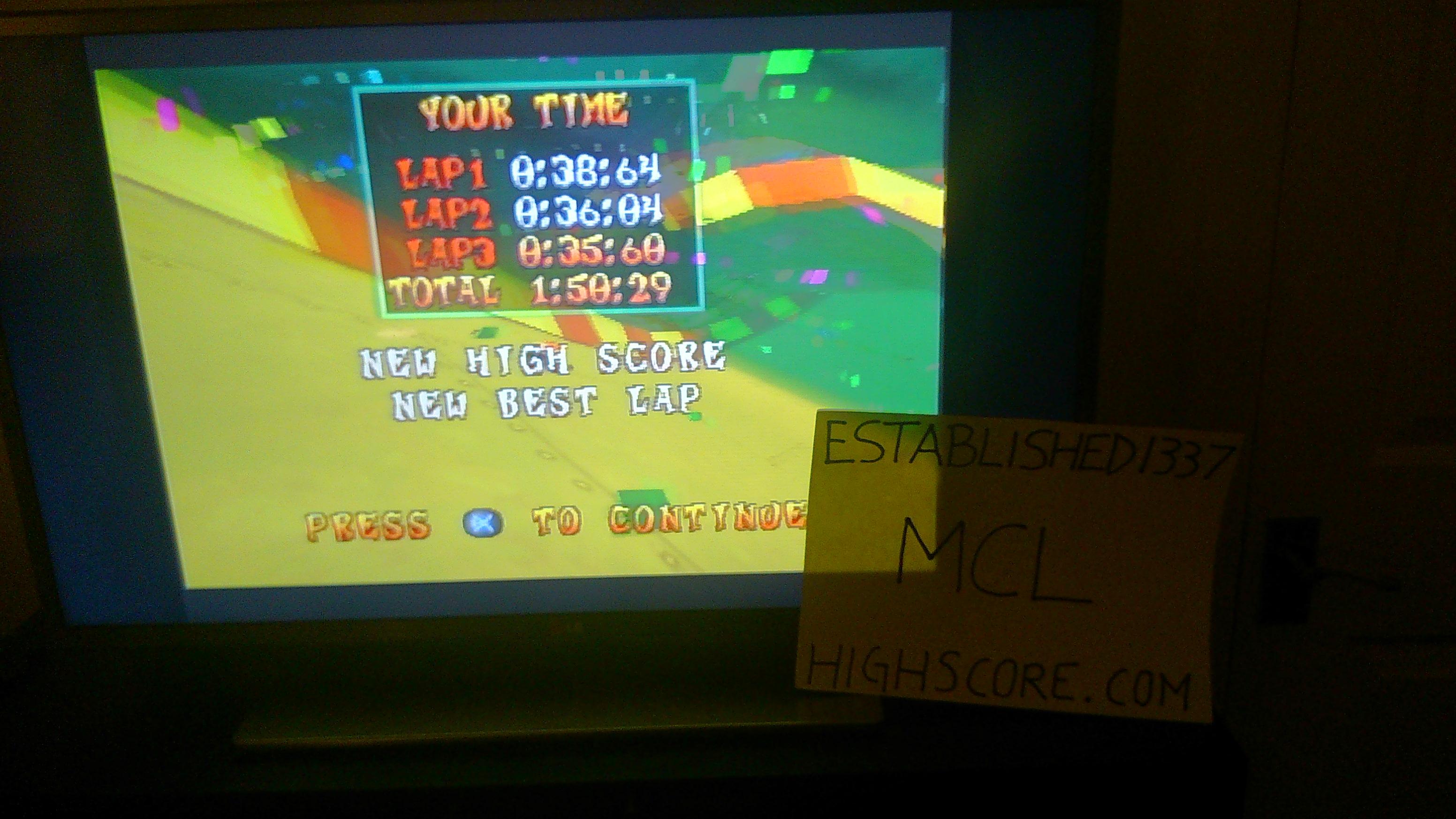 Established1337: CTR Crash Team Racing: Time Trial: Roo