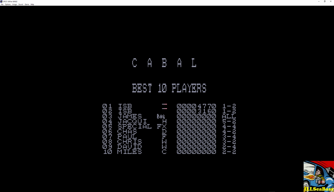 ILLSeaBass: Cabal (Amstrad CPC Emulated) 4,770 points on 2016-12-03 02:35:08