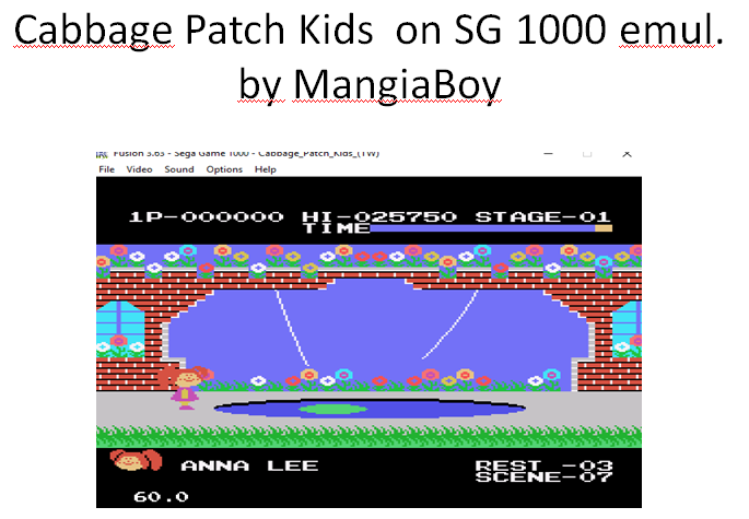 MangiaBoy: Cabbage Patch Kids (Sega SG-1000 Emulated) 25,750 points on 2016-01-03 18:44:10