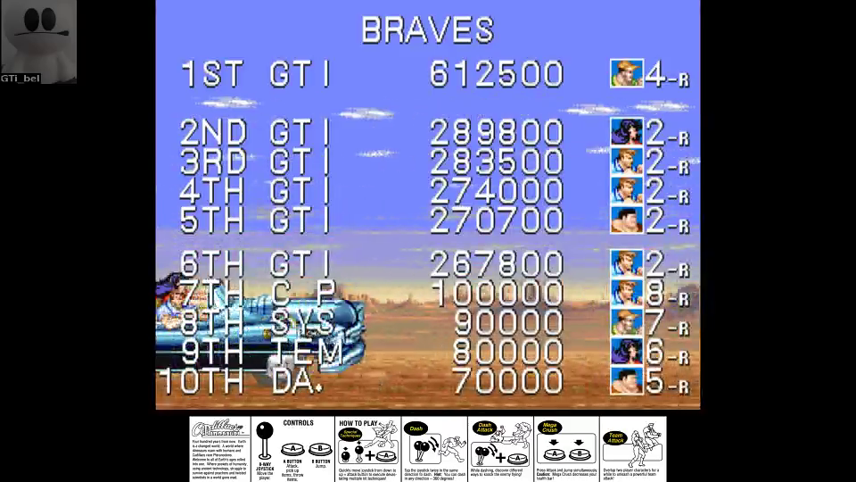 GTibel: Cadillacs and Dinosaurs [dino] (Arcade Emulated / M.A.M.E.) 612,500 points on 2016-07-14 08:51:08
