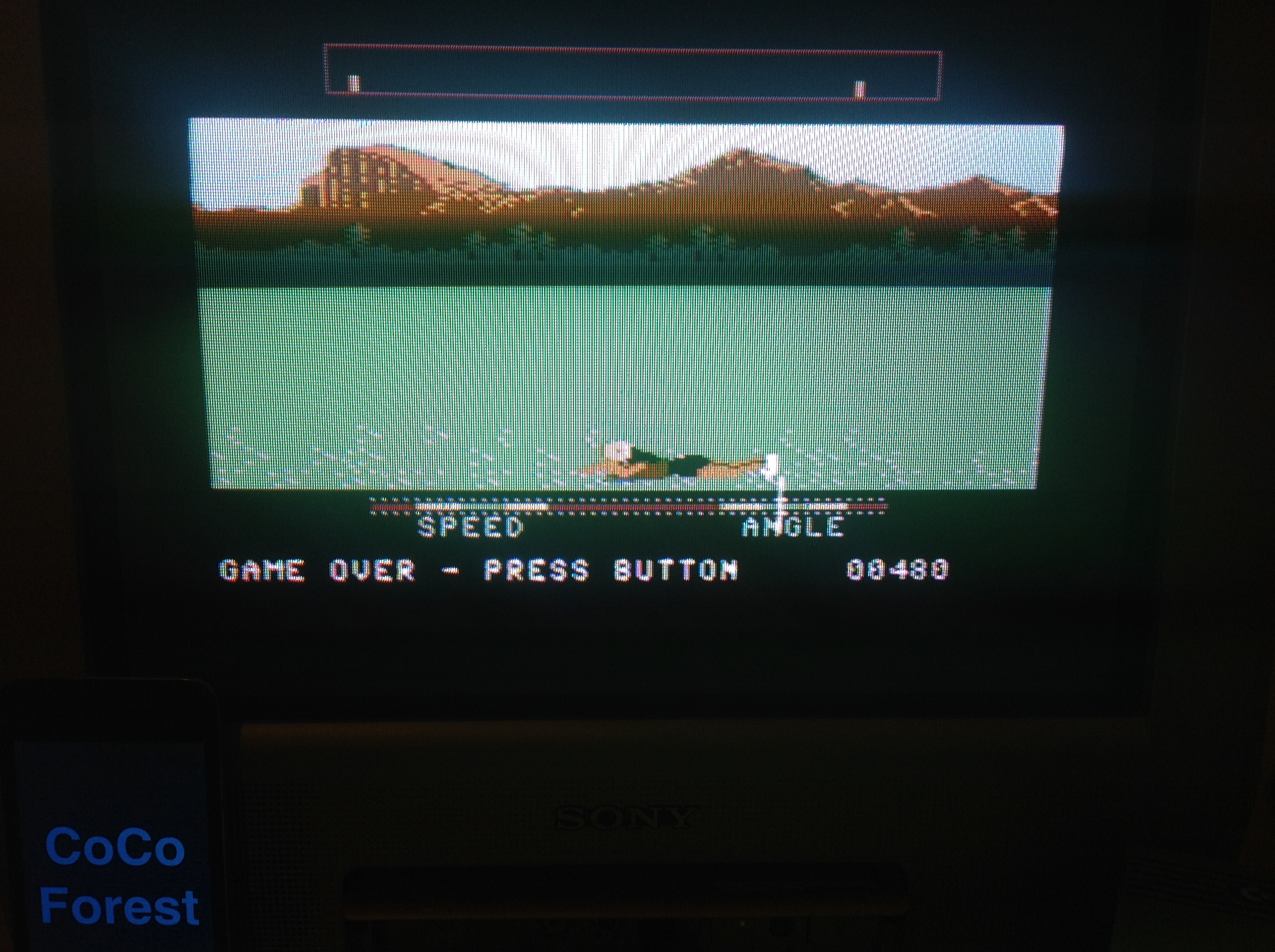 CoCoForest: California Games: Flying Disk (Commodore 64) 480 points on 2015-12-07 13:00:33