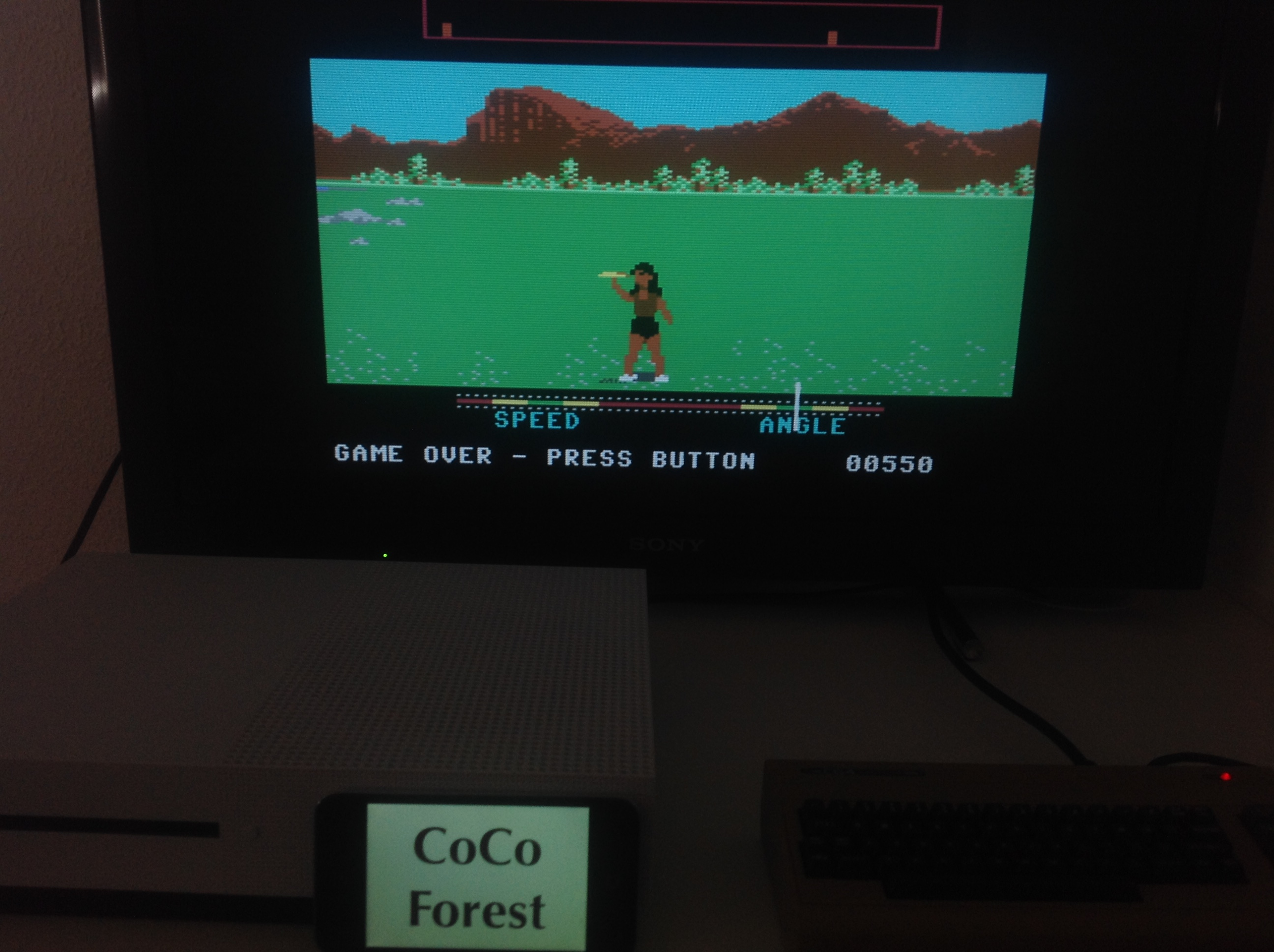 CoCoForest: California Games: Flying Disk (Commodore 64 Emulated) 550 points on 2018-04-16 11:56:06