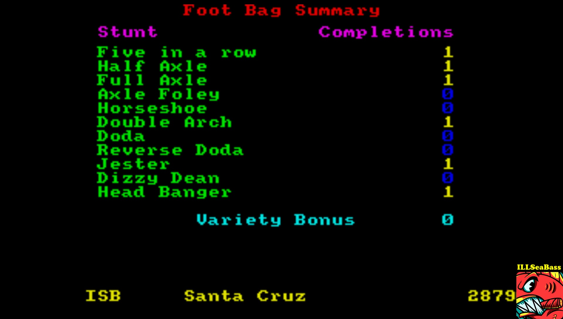 ILLSeaBass: California Games: Foot Bag (Atari ST Emulated) 28,790 points on 2017-03-26 15:39:12