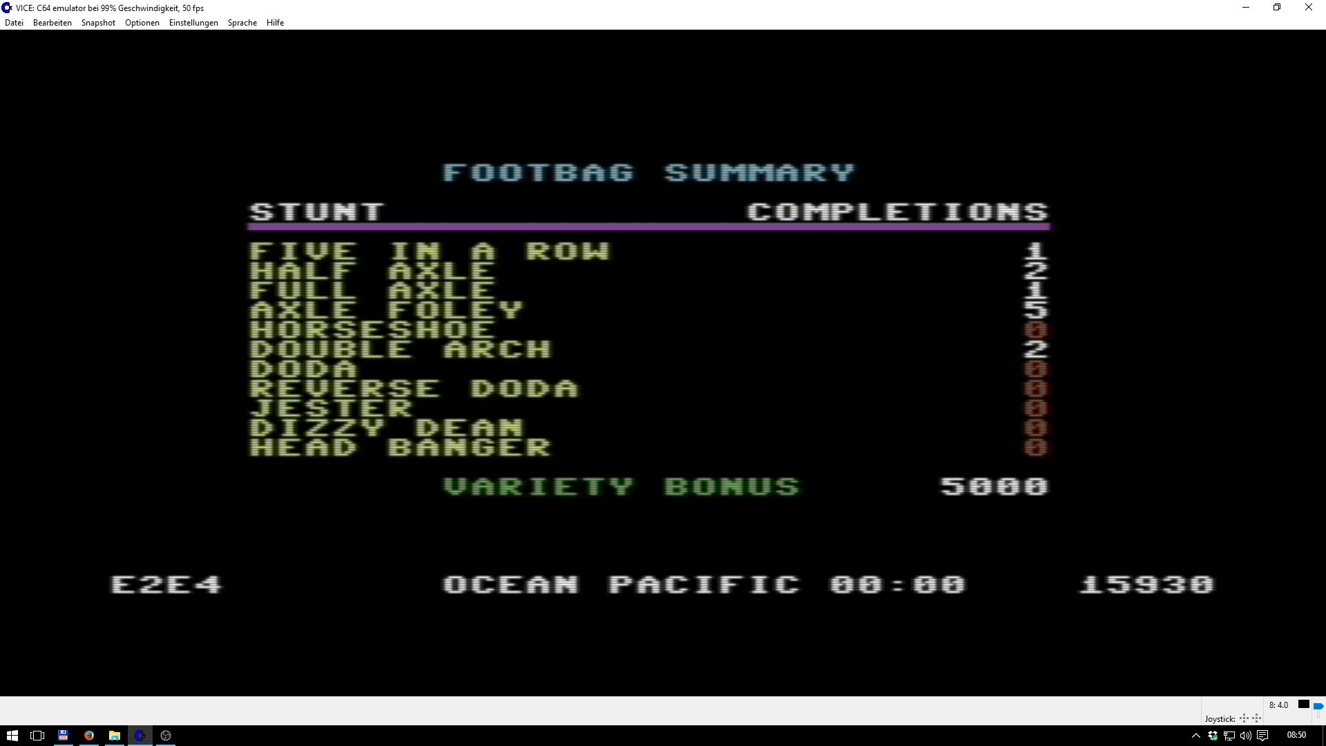 California Games: Foot Bag 15,930 points