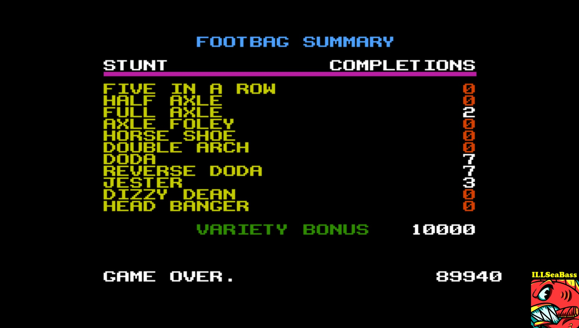 California Games: Foot Bag 89,940 points