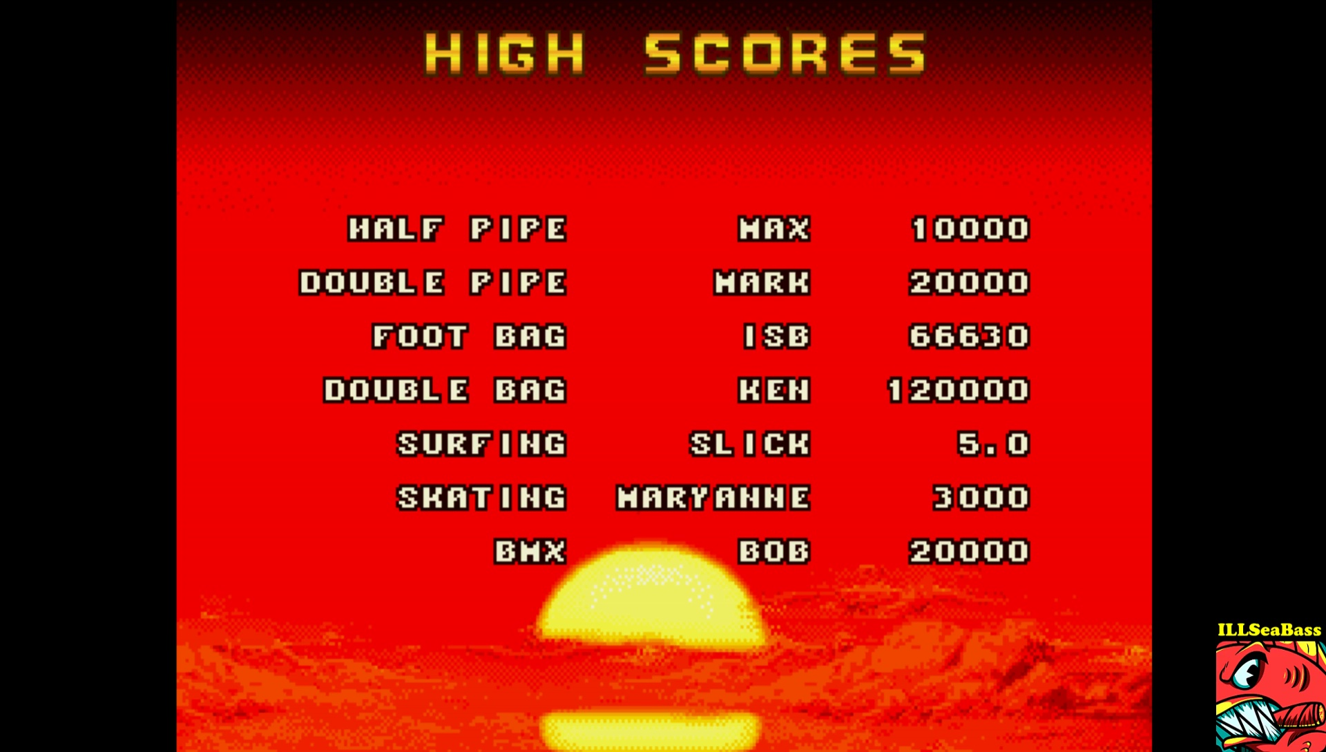 ILLSeaBass: California Games: Foot Bag (Sega Genesis / MegaDrive Emulated) 66,630 points on 2017-03-27 20:49:09