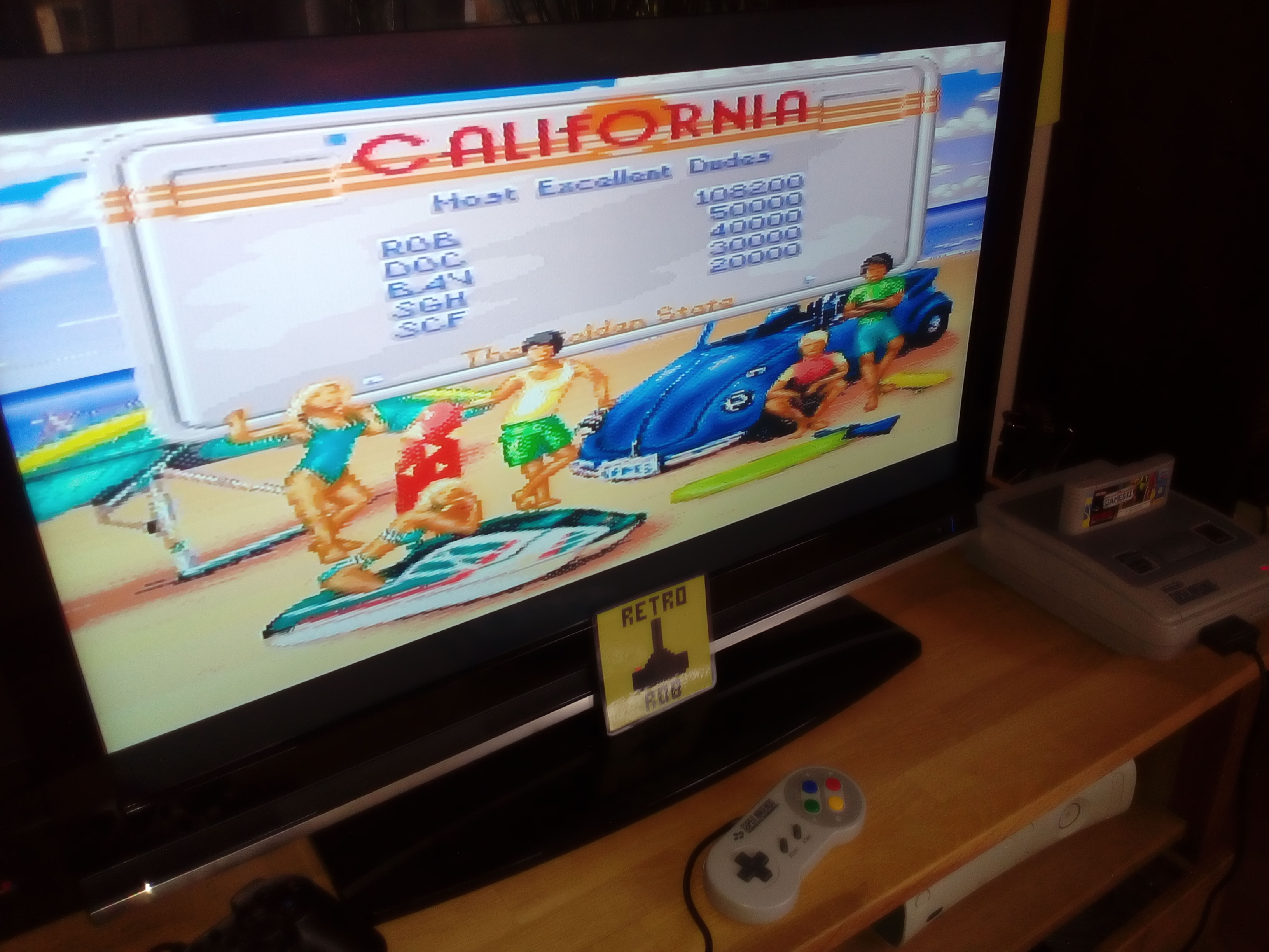 RetroRob: California Games II [Final Score After All Events] (SNES/Super Famicom) 108,200 points on 2019-03-09 03:53:23