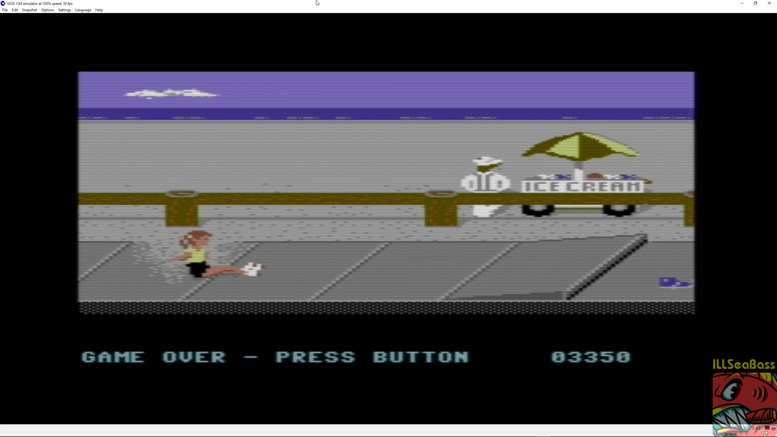 ILLSeaBass: California Games: Skating (Commodore 64 Emulated) 3,350 points on 2018-03-20 23:29:59