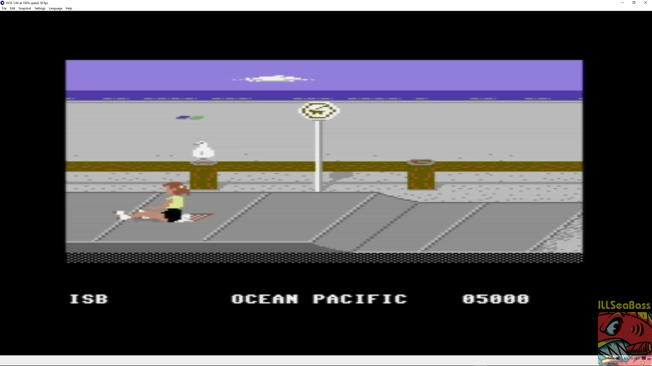 ILLSeaBass: California Games: Skating (Commodore 64 Emulated) 5,000 points on 2018-09-03 12:39:26