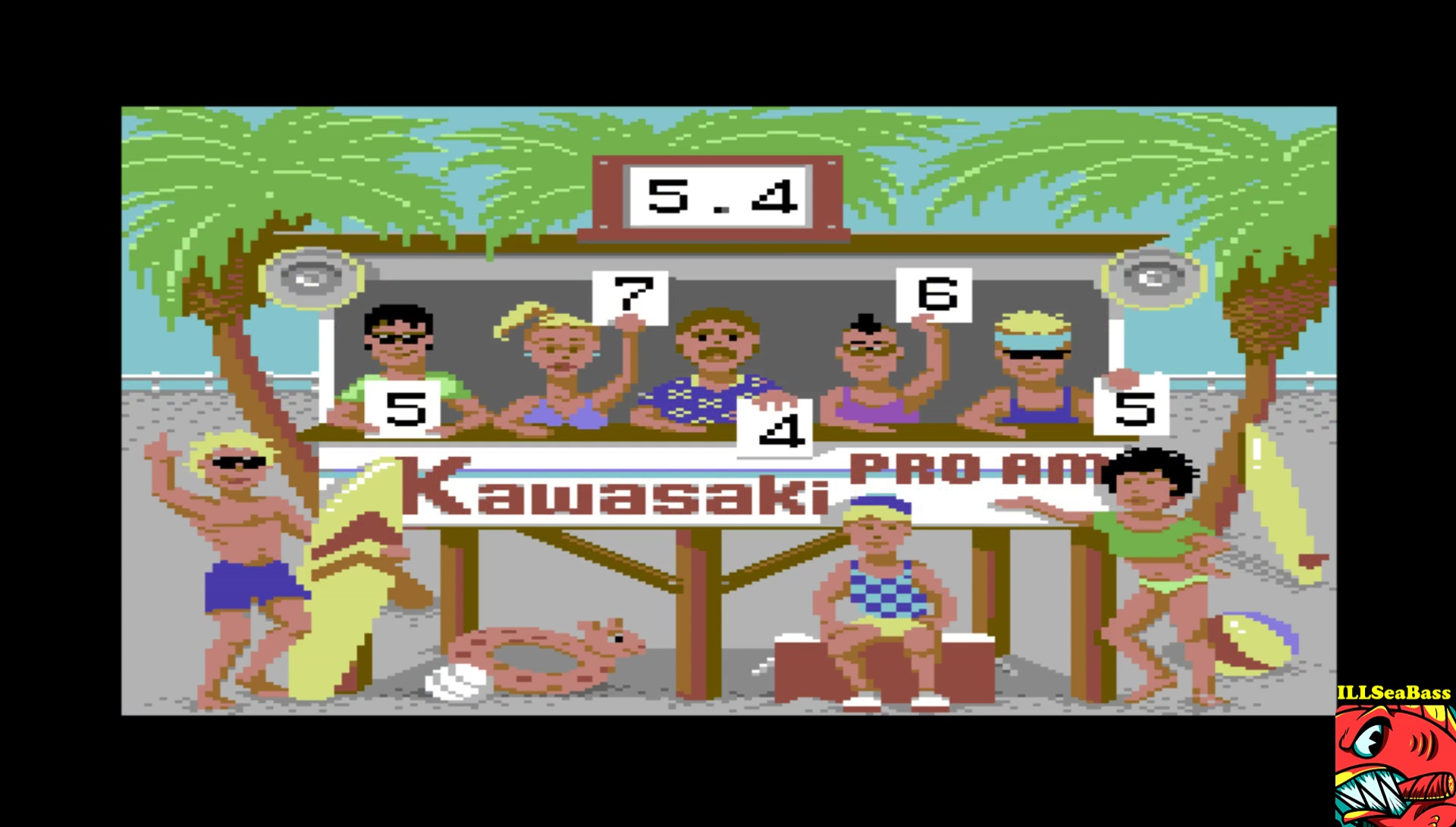ILLSeaBass: California Games: Surfing (Commodore 64 Emulated) 54 points on 2017-04-01 16:52:10