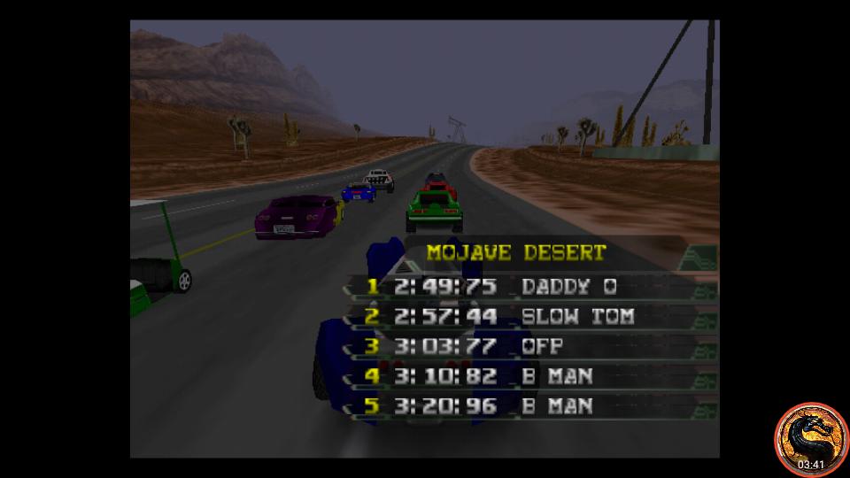 omargeddon: California Speed: Single [Mojave Desert] (N64 Emulated) 0:03:03.77 points on 2019-03-17 20:19:59