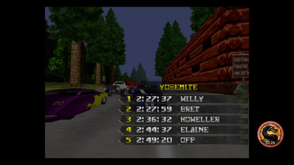 omargeddon: California Speed: Single [Yosemite] (N64 Emulated) 0:02:49.2 points on 2019-03-17 20:19:11