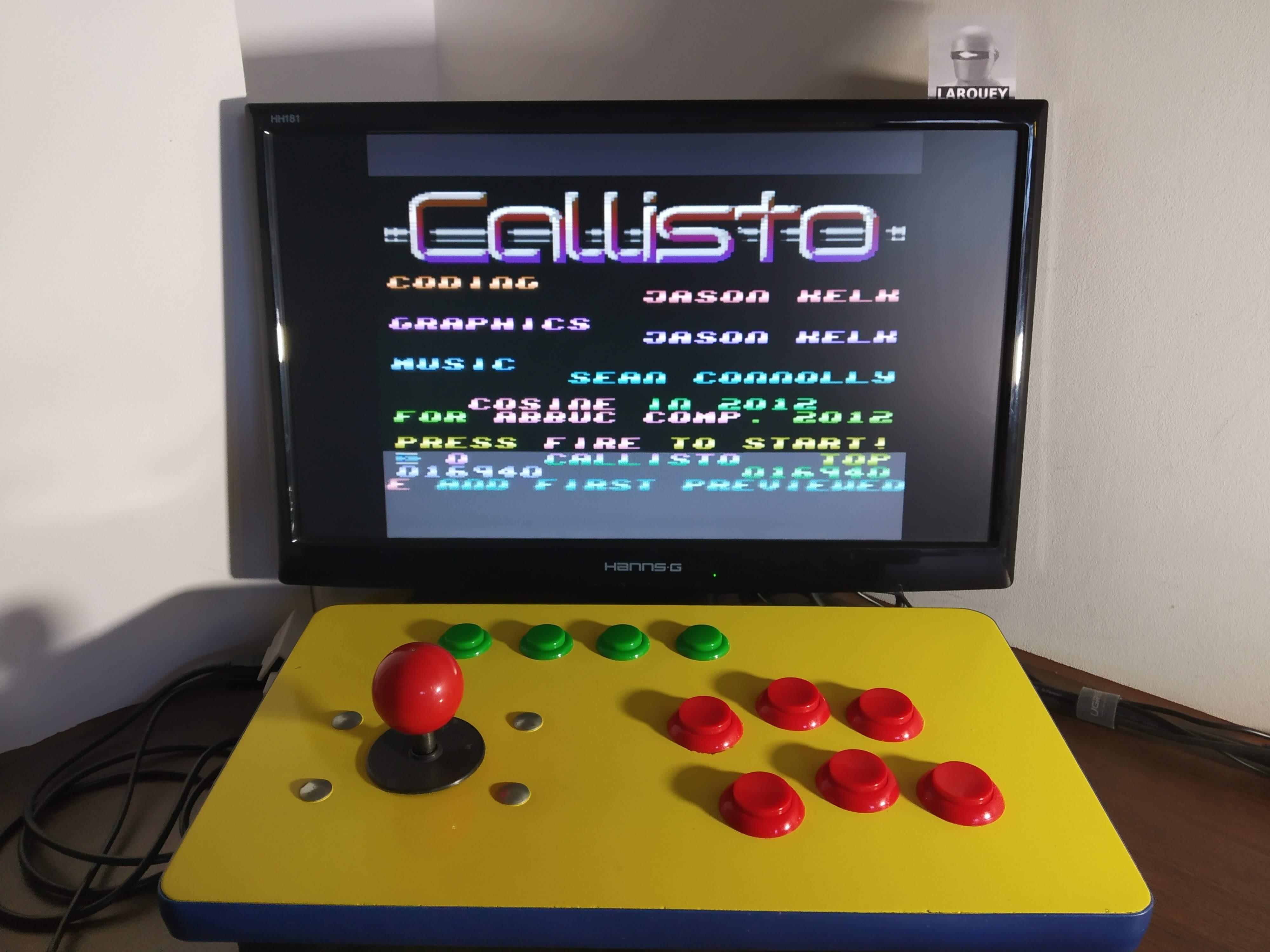 Larquey: Callisto (Atari 400/800/XL/XE Emulated) 16,940 points on 2020-01-01 09:21:42