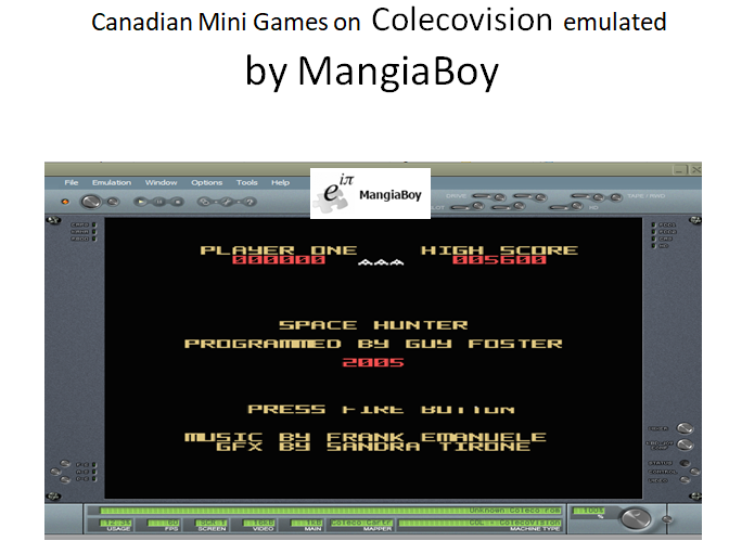 MangiaBoy: Canadian Mini-Games 1: Space Hunter (Colecovision Emulated) 5,600 points on 2018-11-09 15:48:48