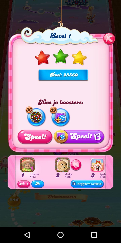 Candy Crush Saga: Level 0001 28,560 points