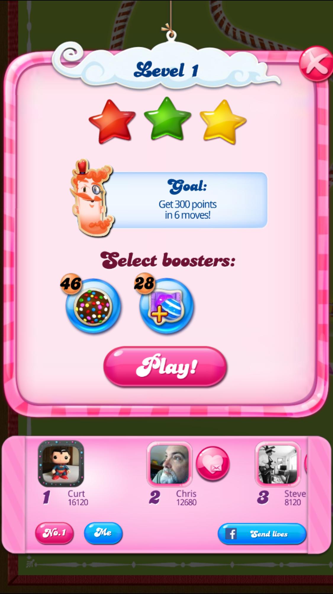 CASchryver: Candy Crush Saga: Level 001 (iOS) 16,120 points on 2017-08-10 11:17:06