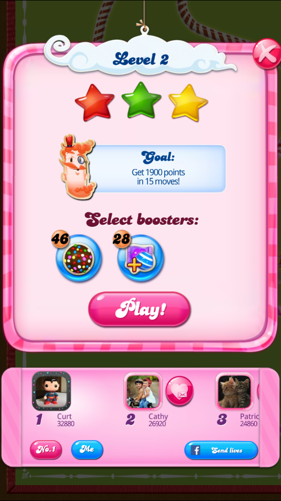 CASchryver: Candy Crush Saga: Level 002 (iOS) 32,880 points on 2017-08-10 11:28:54