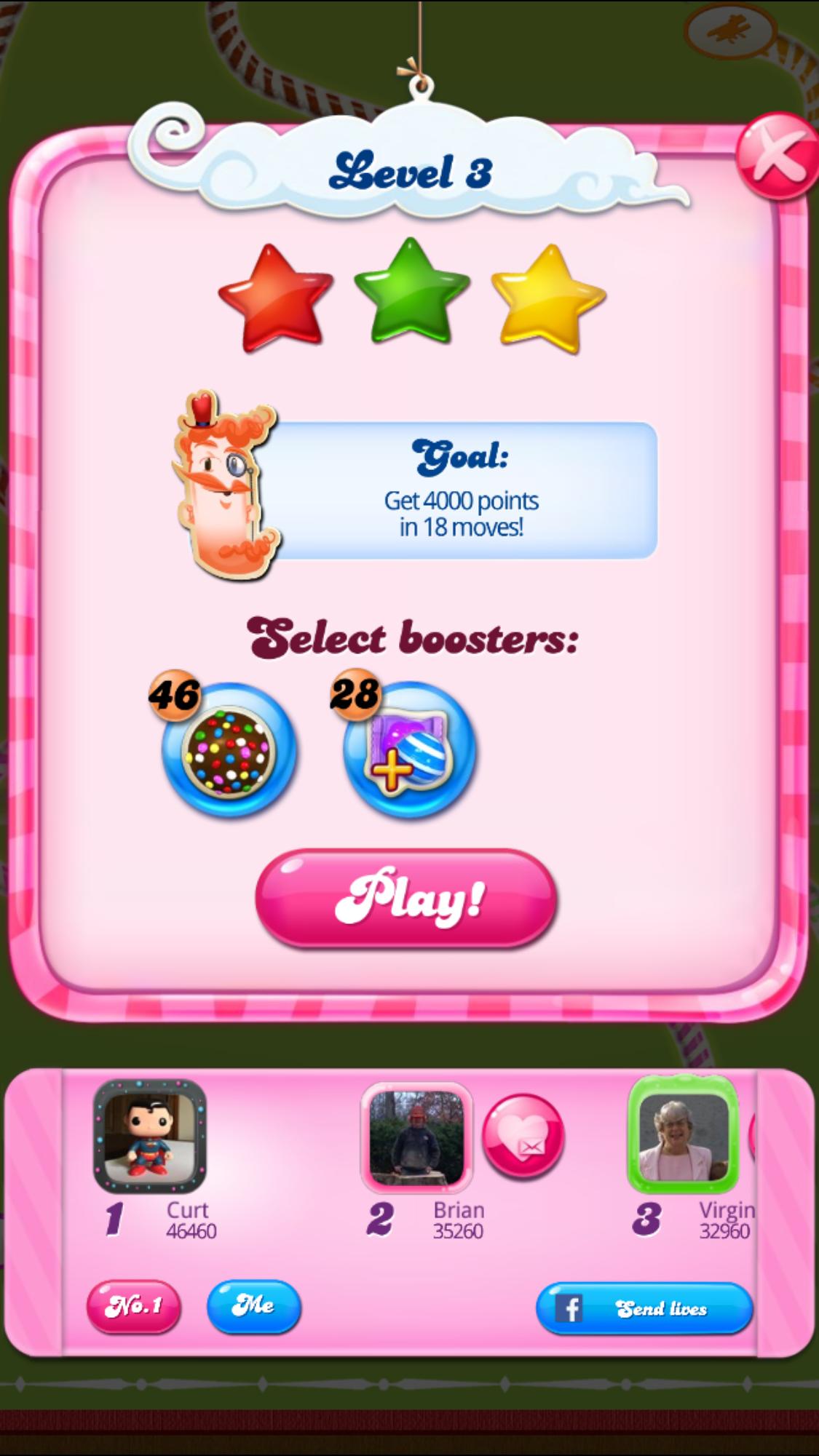 CASchryver: Candy Crush Saga: Level 003 (iOS) 46,460 points on 2017-08-10 11:27:29