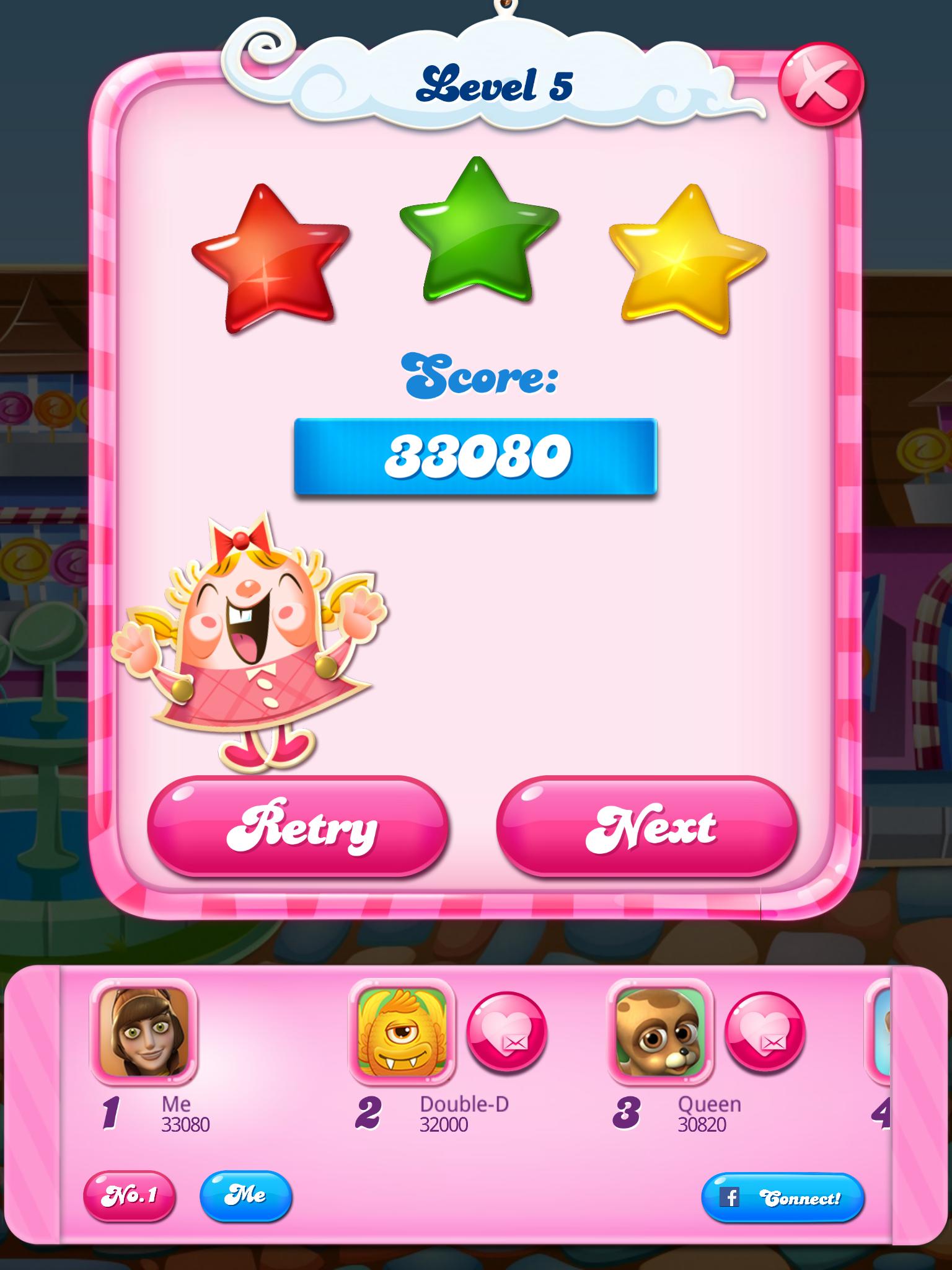Candy Crush Saga: Level 005 33,080 points