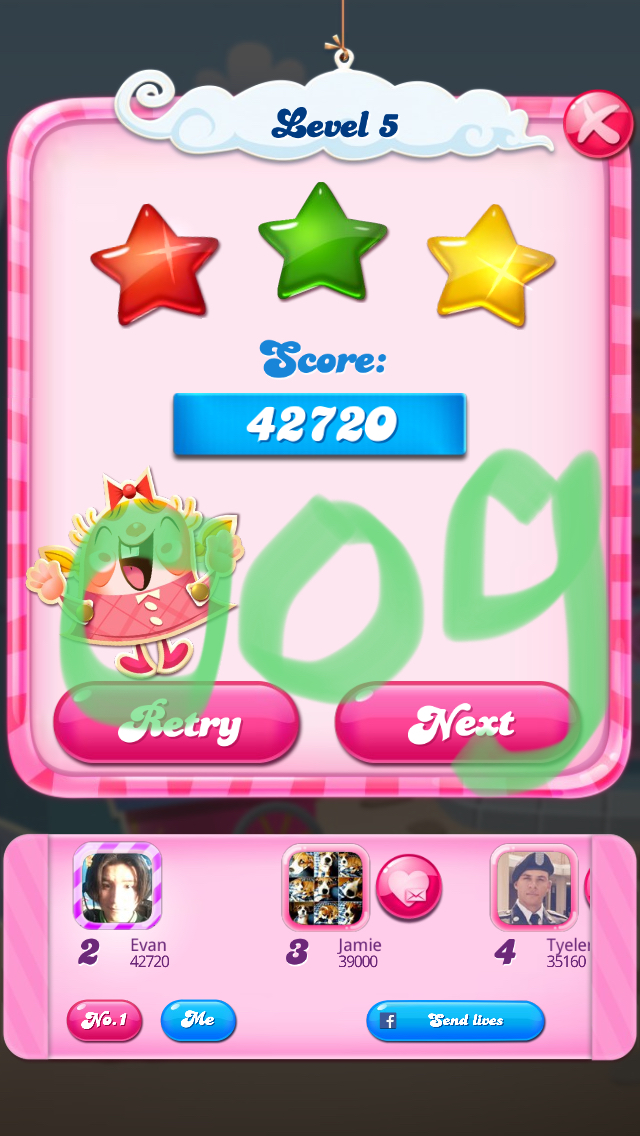 Candy Crush Saga: Level 005 42,720 points