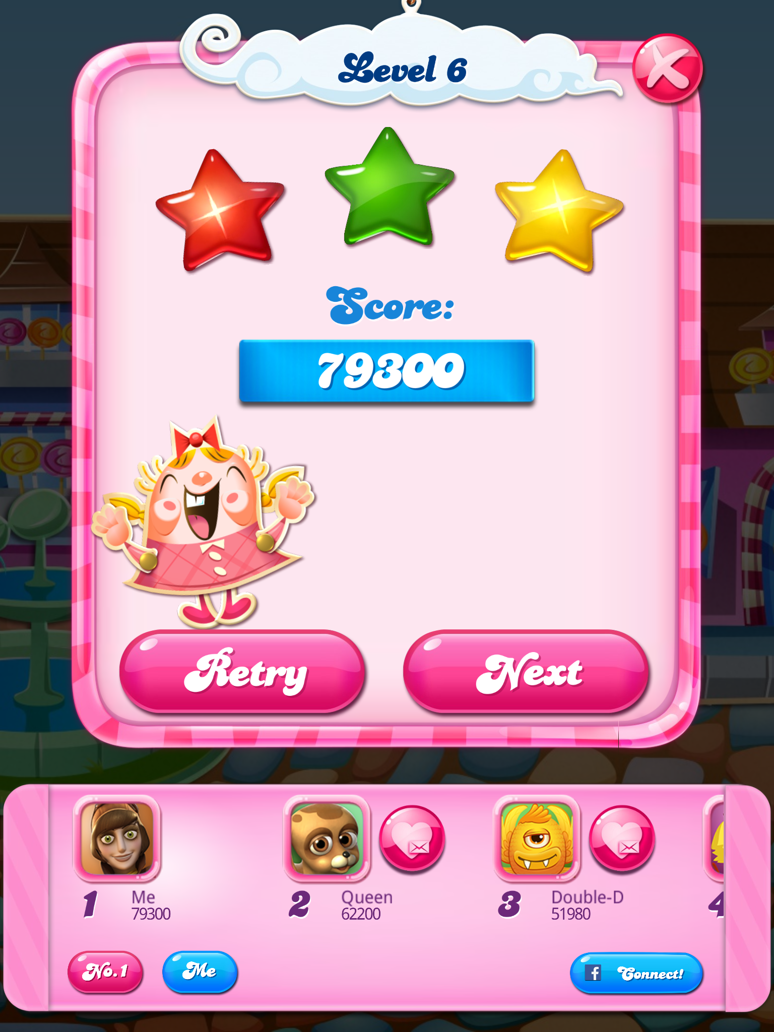 Candy Crush Saga: Level 006 79,300 points