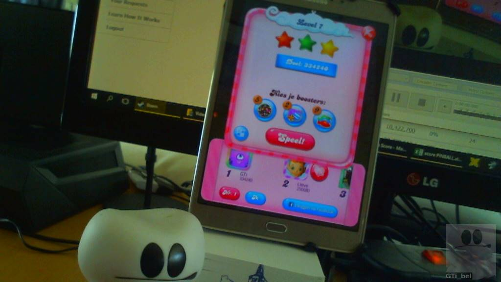 GTibel: Candy Crush Saga: Level 007 (Android) 334,240 points on 2018-03-03 08:01:39