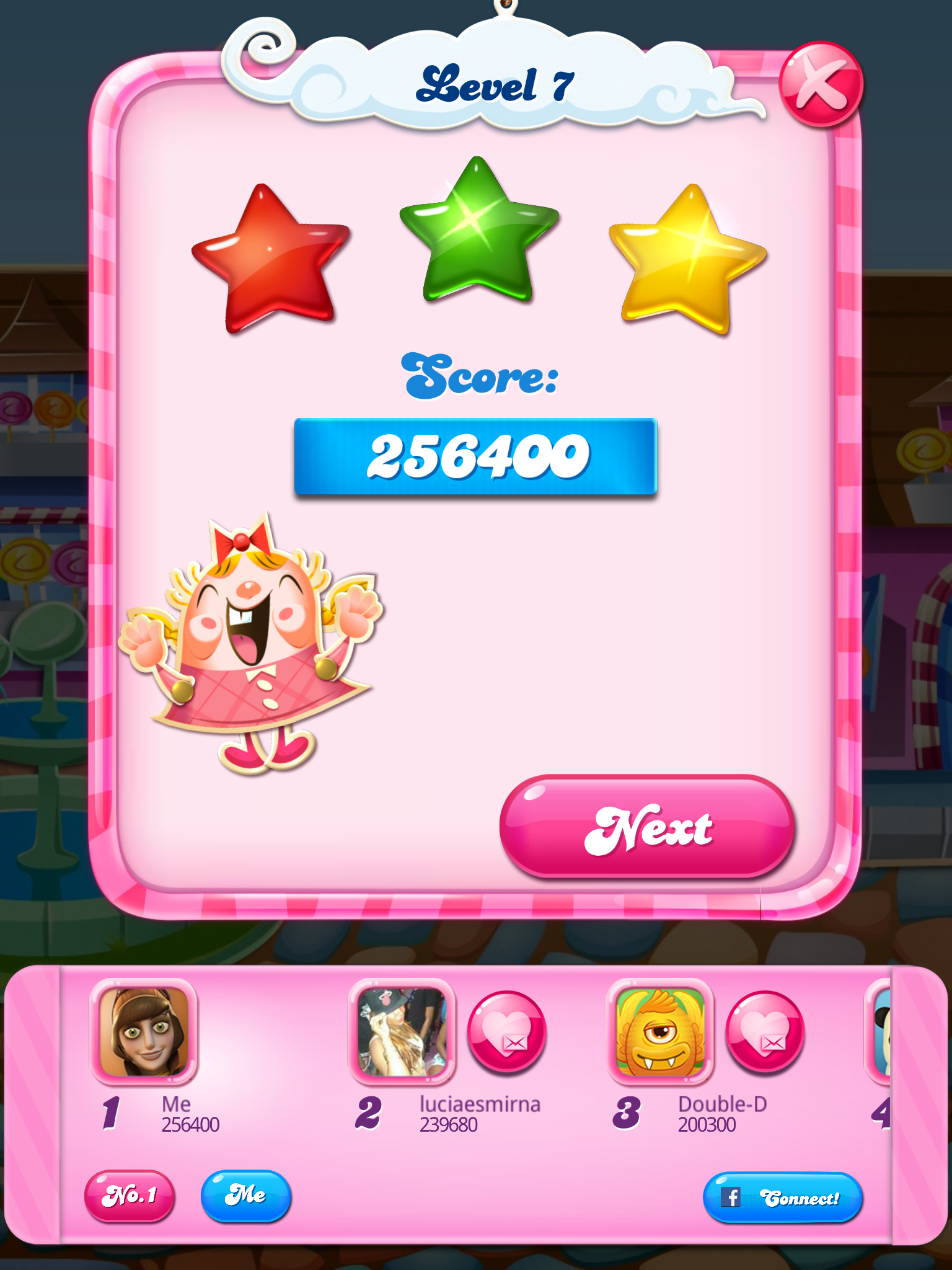 Candy Crush Saga: Level 007 256,400 points