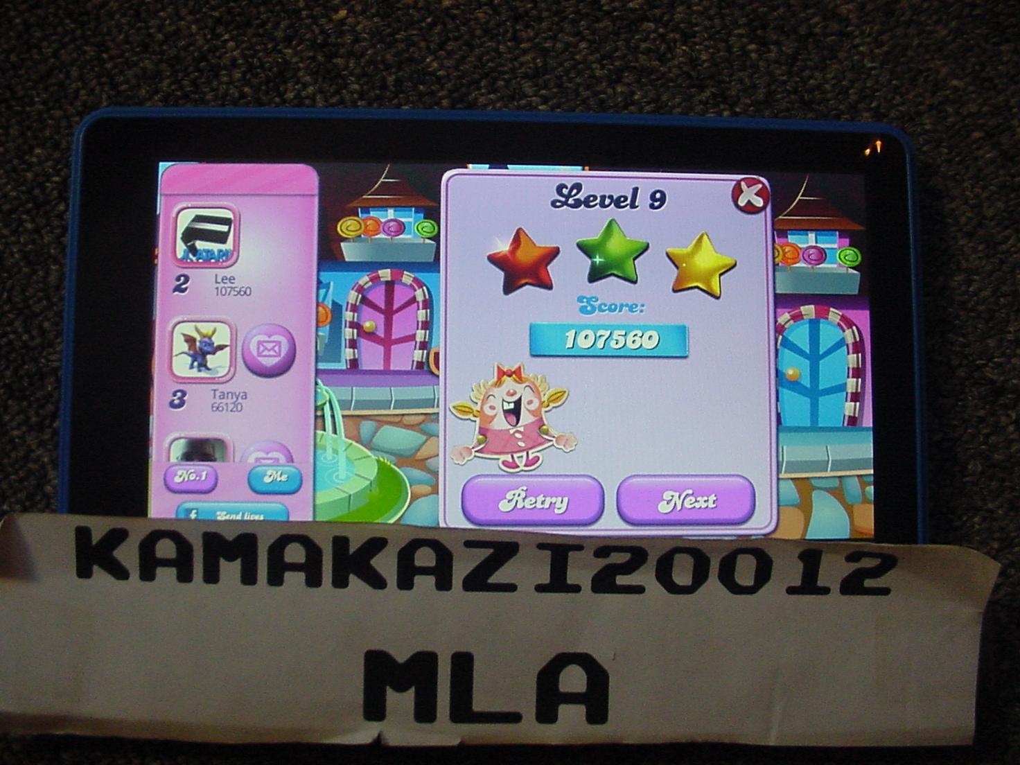 Candy Crush Saga: Level 0009 107,560 points