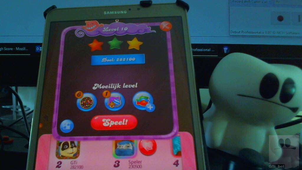 GTibel: Candy Crush Saga: Level 010 (Android) 282,100 points on 2018-08-26 04:27:26