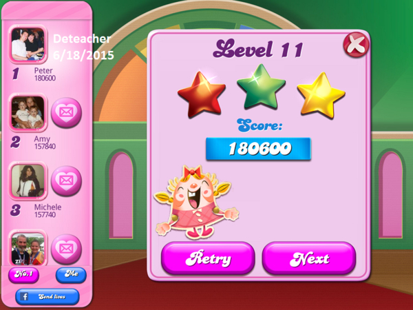 Deteacher: Candy Crush Saga: Level 011 (iOS) 180,600 points on 2015-06-18 19:23:19