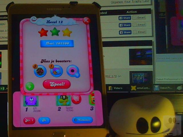 GTibel: Candy Crush Saga: Level 012 (Android) 202,200 points on 2018-02-15 03:04:10