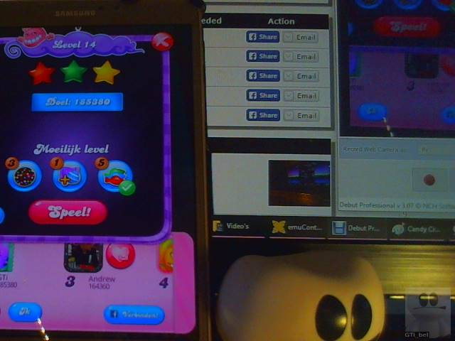 GTibel: Candy Crush Saga: Level 015 (Android) 156,840 points on 2018-02-15 03:10:41
