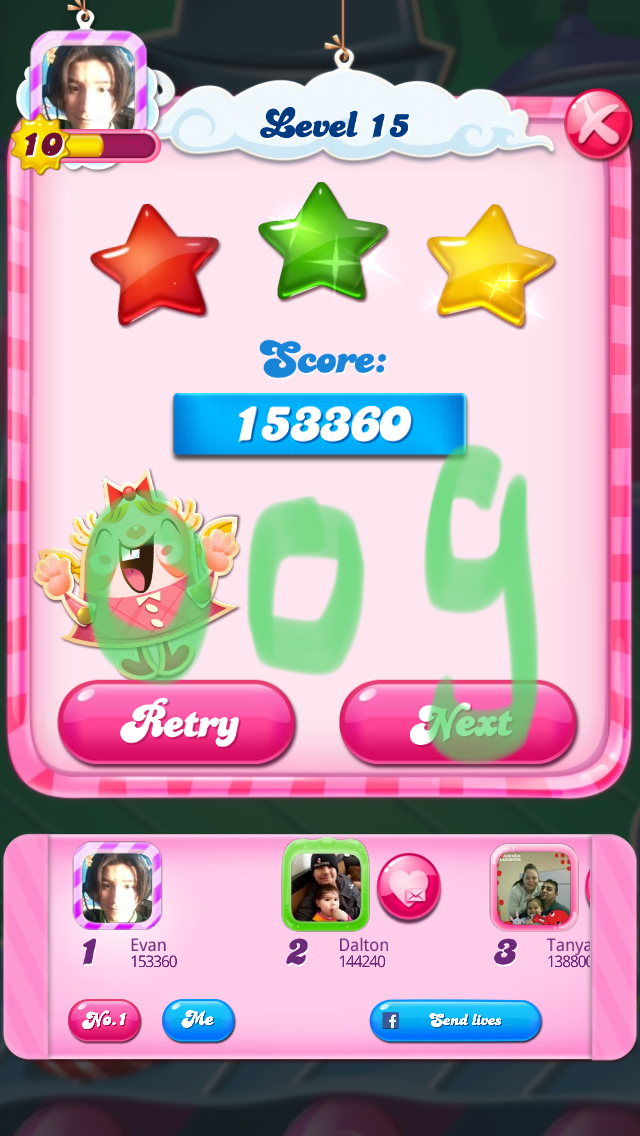 Candy Crush Saga: Level 015 153,360 points