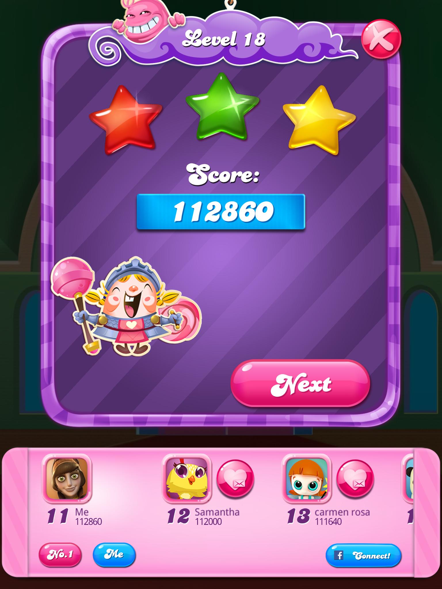 Candy Crush Saga: Level 018 112,860 points