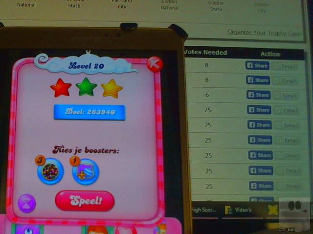 GTibel: Candy Crush Saga: Level 020 (Android) 263,940 points on 2018-02-15 03:19:00