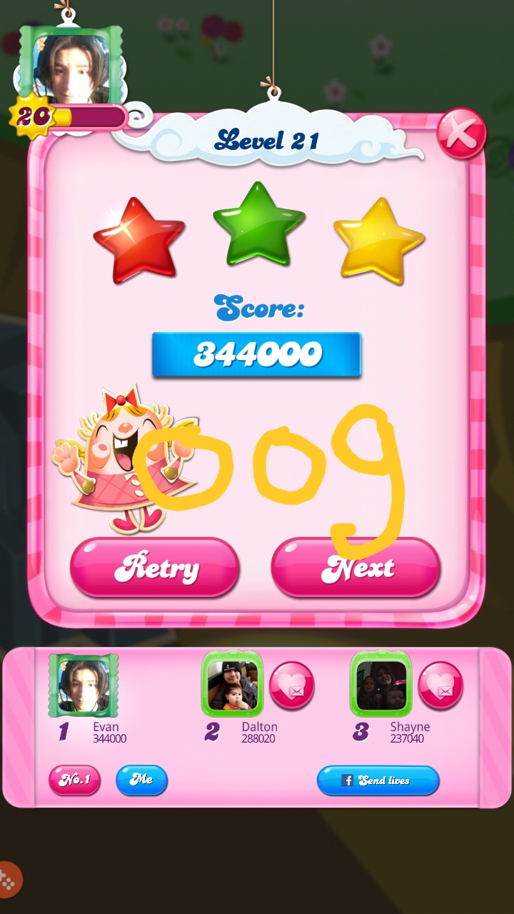 OOG: Candy Crush Saga: Level 021 (Android) 344,000 points on 2018-08-18 03:04:12
