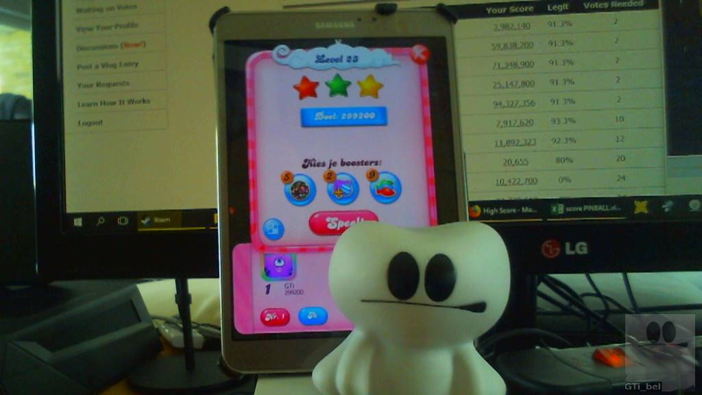 GTibel: Candy Crush Saga: Level 023 (Android) 299,200 points on 2018-03-03 08:04:02