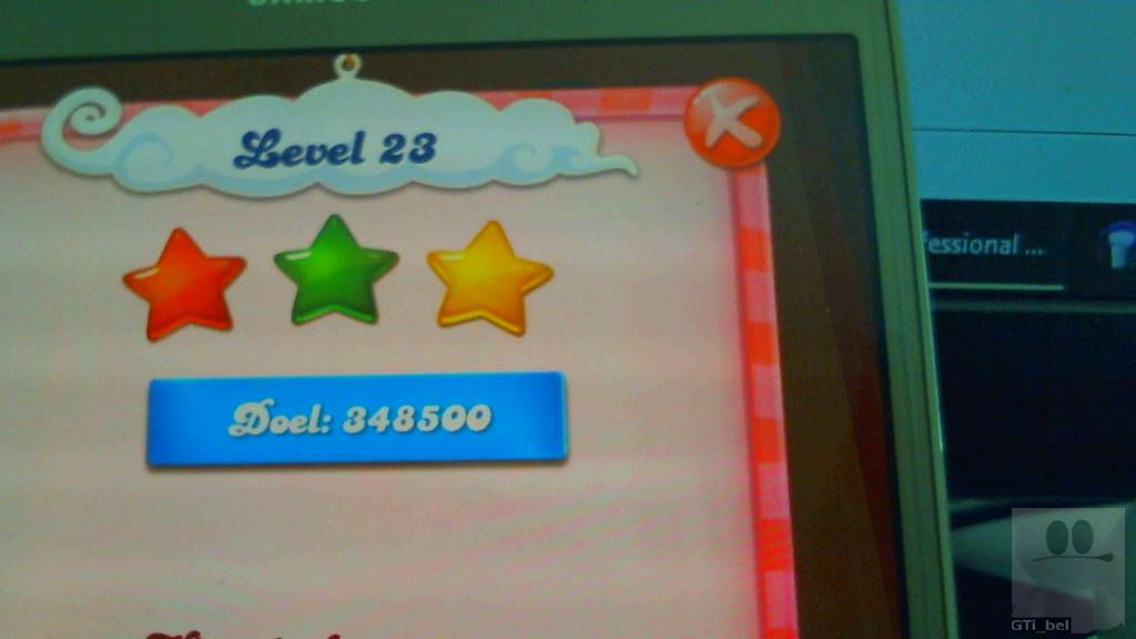 GTibel: Candy Crush Saga: Level 023 (Android) 348,500 points on 2018-08-26 04:43:11