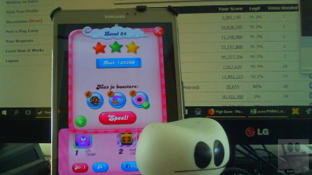 GTibel: Candy Crush Saga: Level 024 (Android) 135,380 points on 2018-03-03 08:05:59