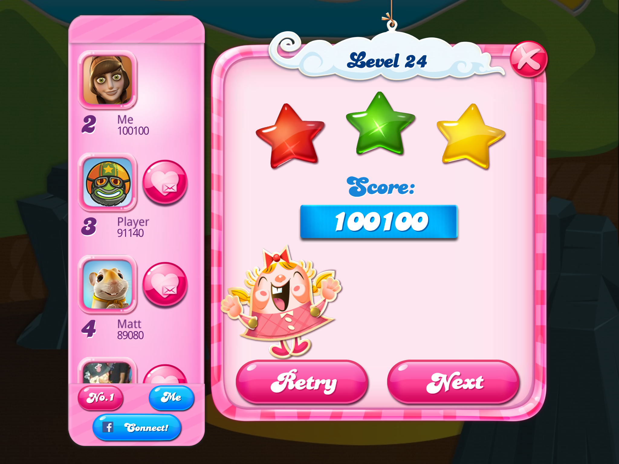 Candy Crush Saga: Level 024 100,100 points