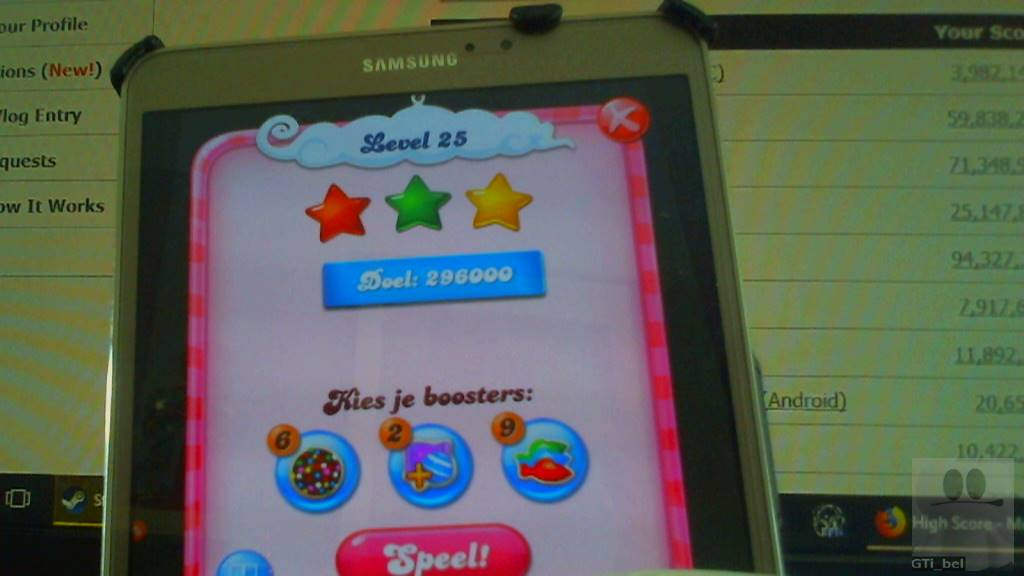 GTibel: Candy Crush Saga: Level 025 (Android) 296,000 points on 2018-03-03 08:07:40