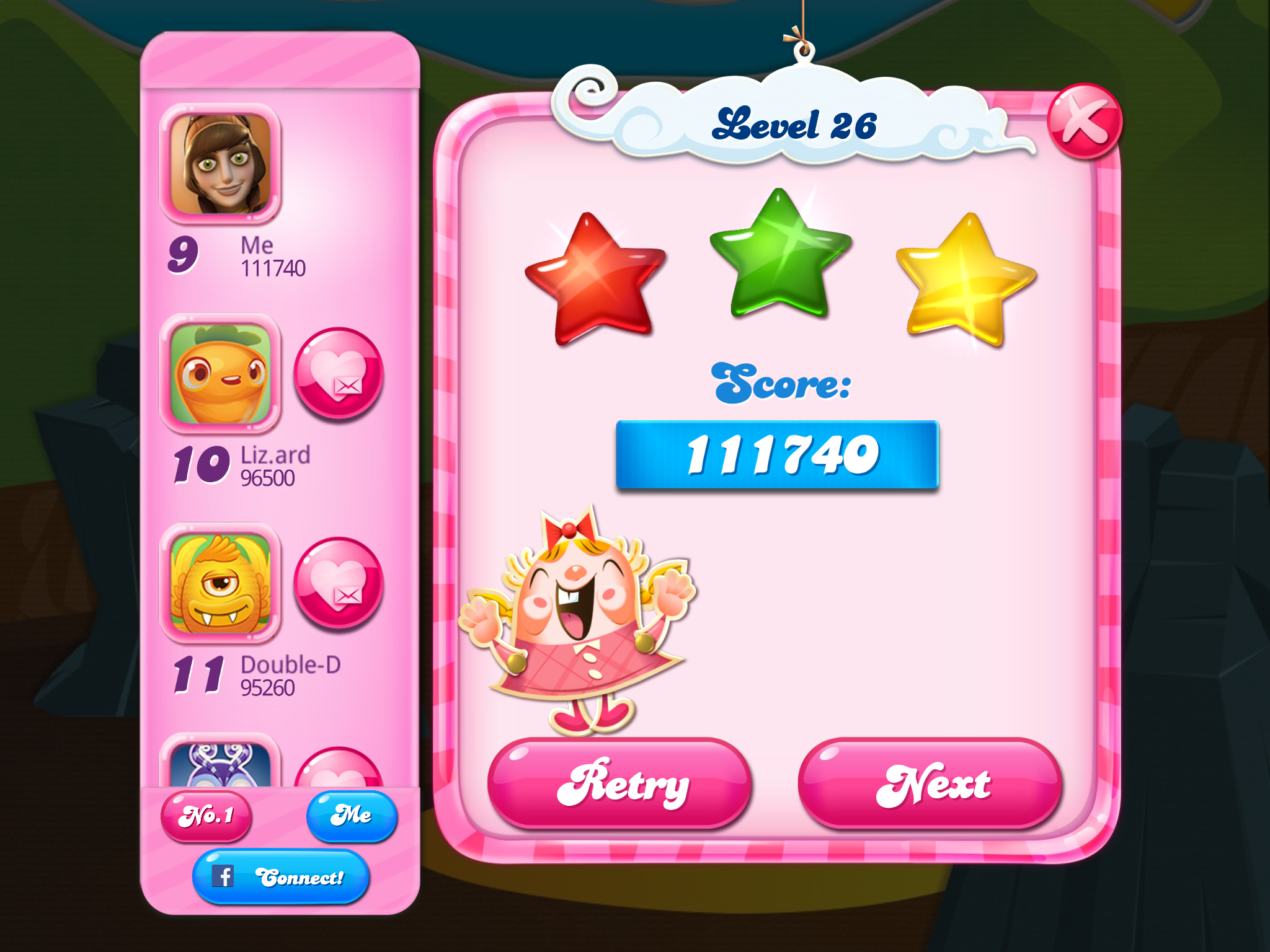 Candy Crush Saga: Level 026 111,740 points